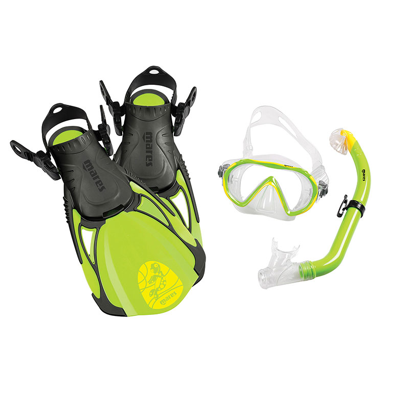 MARES snorkeling set sea friends.